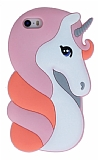 iPhone SE / 5 / 5S Unicorn Pembe Silikon Kılıf