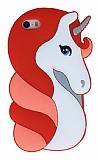 iPhone SE / 5 / 5S Unicorn Kırmızı Silikon Kılıf