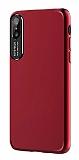 Dafoni Shade iPhone X Kamera Korumalı Kırmızı Rubber Kılıf