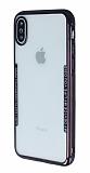 iPhone X / XS Siyah Kenarlı Şeffaf Silikon Kılıf