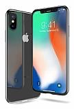 iPhone X Dark Silver Kenarlı Şeffaf Silikon Kılıf