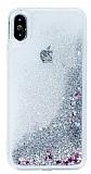 iPhone X Sulu Silver Rubber Kılıf