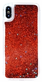 iPhone X Sulu Kırmızı Rubber Kılıf