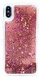 iPhone X Sulu Rose Gold Rubber Kılıf