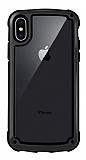 iPhone X / XS Jelly Bumper Şeffaf Ultra Koruma Siyah Kılıf