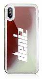 iPhone X / XS Kişiye Özel Neon Kumlu Kırmızı Silikon Kılıf