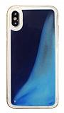 iPhone X / XS Neon Kumlu Lacivert Silikon Kılıf