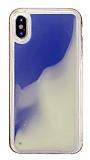 iPhone X / XS Neon Kumlu Mavi Silikon Kılıf