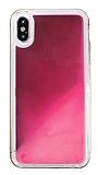 iPhone X / XS Neon Kumlu Pembe Silikon Kılıf