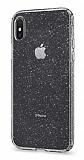 iPhone X / XS Simli Şeffaf Silikon Kılıf