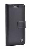 iPhone XR Cüzdanlı Yan Kapaklı Siyah Deri Kılıf