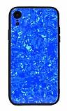 iPhone XR Desenli Silikon Kenarlı Mavi Rubber Kılıf