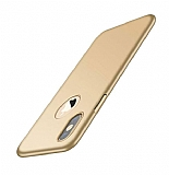 iPhone XS Max Mat Gold Silikon Kılıf