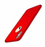 iPhone XS Max Mat Kırmızı Silikon Kılıf