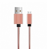 ivon Micro USB Rose Gold Metal Kısa Data Kablosu 35cm