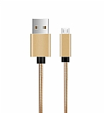 ivon Micro USB Gold Metal Kısa Data Kablosu 35cm