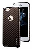 JLW iPhone 6 Plus / 6S Plus Karbon Kahverengi Rubber Kılıf