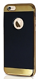 Joyroom Blade Series iPhone 6 Plus / 6S Plus Metalik Kenarlı Gold Silikon Kılıf