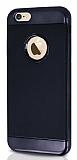 Joyroom Blade Series iPhone 6 Plus / 6S Plus Metalik Kenarlı Siyah Silikon Kılıf