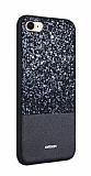 Joyroom Bravery iPhone 7 / 8 Silikon Kenarlı Siyah Rubber Kılıf