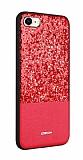 Joyroom Bravery iPhone 7 / 8 Silikon Kenarlı Kırmızı Rubber Kılıf
