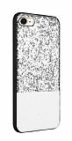 Joyroom Bravery iPhone 7 / 8 Silikon Kenarlı Silver Rubber Kılıf