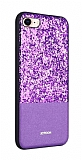 Joyroom Bravery iPhone 7 / 8 Silikon Kenarlı Mor Rubber Kılıf