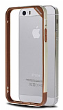 Joyroom Gemini iPhone 5 / 5S Silikon Bumper �er�eve Metalik Gold K�l�f