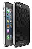 Joyroom iPhone SE / 5 / 5S Silver Kenarl� Karbon Silikon K�l�f