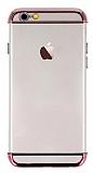 Joyroom iPhone 6 / 6S Rose Gold Kenarlı Şeffaf Rubber Kılıf