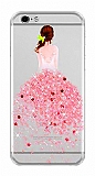 Joyroom iPhone 6 / 6S Kız Taşlı Pembe Silikon Kılıf