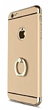 Joyroom iPhone 6 / 6S Selfie Y�z�kl� Metal Gold Rubber K�l�f