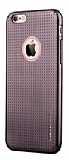 Joyroom iPhone 6 Plus / 6S Plus Nokta Desenli Dark Silver Rubber K�l�f