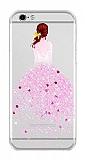 Joyroom iPhone 7 Kız Taşlı Pembe Silikon Kılıf