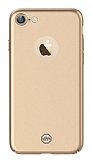 Joyroom iPhone 7 Tam Kenar Gold Rubber Kılıf