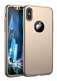 Joyroom iPhone X 360 Derece Koruma Gold Rubber Kılıf