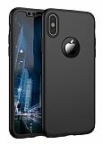 Joyroom iPhone X 360 Derece Koruma Siyah Rubber Kılıf