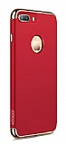 Joyroom Ling iPhone 7 Plus / 8 Plus 3ü 1 Arada Kırmızı Rubber Kılıf