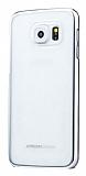 Joyroom Samsung Galaxy S6 Edge Metalik Silver Kenarl� Kristal K�l�f