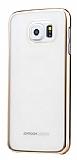 Joyroom Samsung Galaxy S6 Edge Metalik Gold Kenarl� Kristal K�l�f
