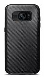 Joyroom Samsung Galaxy S7 Edge Silver Kenarlı Karbon Silikon Kılıf