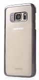 Joyroom Samsung Galaxy S7 Edge Metalik Siyah Kenarlı Kristal Kılıf