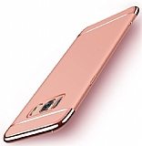Joyroom Samsung Galaxy S8 3ü 1 Arada Rose Gold Rubber Kılıf