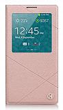 Joyroom Samsung N9000 Galaxy Note 3 Across Uyku Modlu Pencereli Krem Deri K�l�f