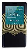 Joyroom Samsung N9000 Galaxy Note 3 Brilliant Golden Uyku Modlu Pencereli Siyah Deri K�l�f