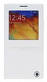 Joyroom Samsung N9000 Galaxy Note 3 Style Uyku Modlu Pencereli Beyaz Deri K�l�f
