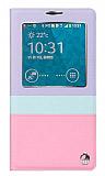 Joyroom Samsung N9000 Galaxy Note 3 Tiffany Uyku Modlu Pencereli Mor Deri K�l�f