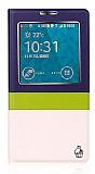 Joyroom Samsung N9000 Galaxy Note 3 Tiffany Uyku Modlu Pencereli Lacivert Deri Kılıf