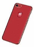 Joyroom Wizz Series iPhone 7 / 8 Metal Kenarlı Kırmızı Rubber Kılıf