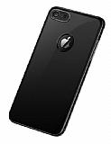 Joyroom Wizz Series iPhone 7 / 8 Metal Kenarlı Siyah Rubber Kılıf